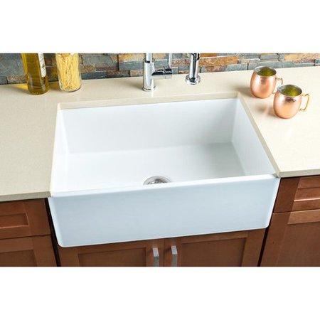 Hahn fireclay 33 39 39 x 20 39 39 single basin farmhouse apron kitchen sink - Walmart kitchen sinks ...