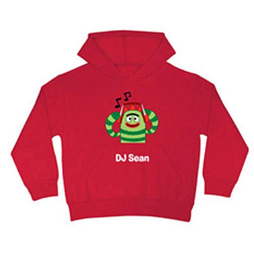 Personalized Yo Gabba Gabba! Brobee DJ Red Boys' Hoodie