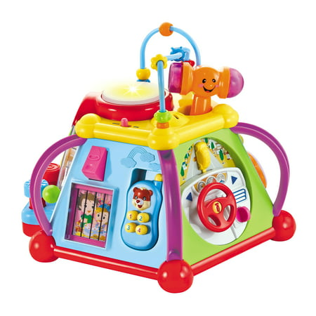 Huile Musical Activity Cube Toy Educational Game Play Center with Lights and (Educational Activities Toe)