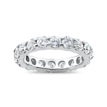 Platinum 3ct Round Diamond Eternity Wedding Ring Womens Stackable Band