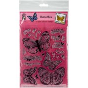 """Butterflies - Hot Off The Press Acrylic Stamps 6""""X8"""""""