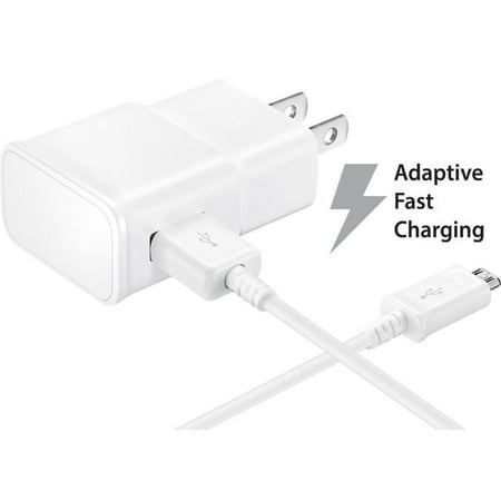 2 PACK - Verizon Samsung Galaxy J7 Perx V Adaptive Fast Charger Micro USB 2.0 Cable Kit! [1 Wall Charger + 5 FT Micro USB Cable] AFC uses dual voltages For up to 50% faster charging! - Bulk Packaging (Verizon Charger Micro Usb)