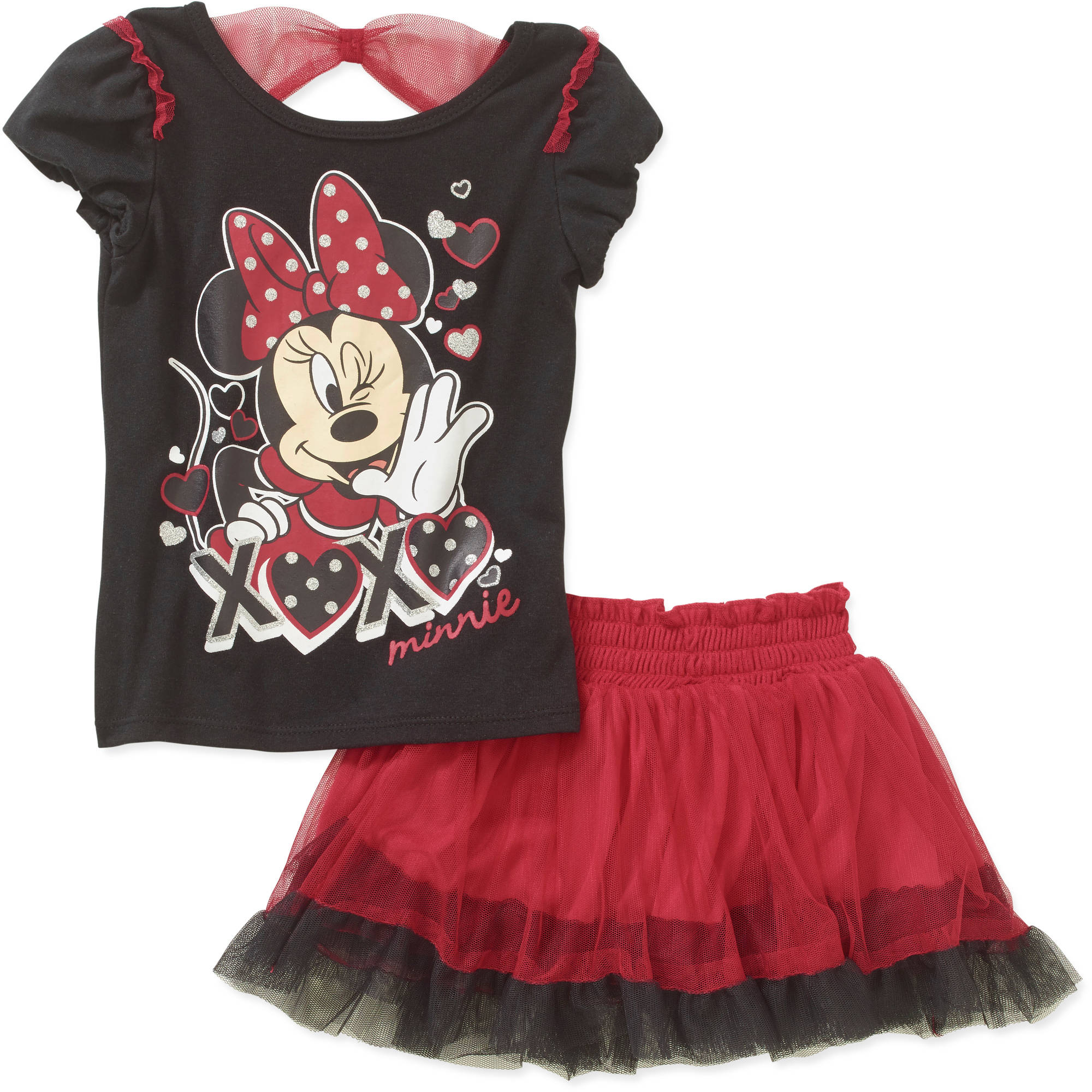 Minnie Mouse Toddler Girls' XOXO Tee and Scooter Set