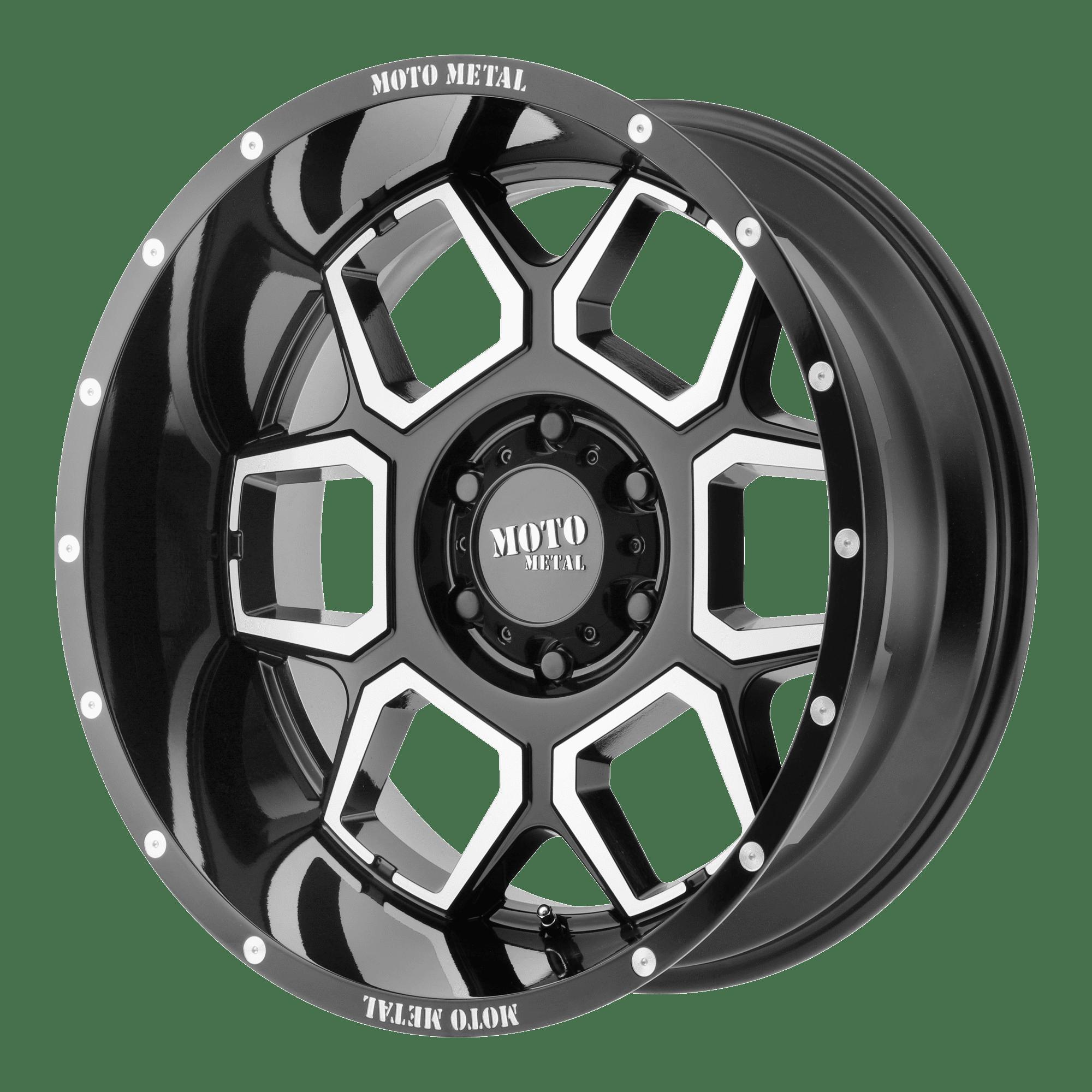MOTO METAL SPADE 20x10 5x127.00 BLACK (-24 mm) RIM