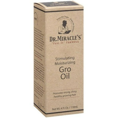 Dr. Miracle's Feel It Formula, Strengthen Daily Moisturizing Gro Oil, 4 Ounce []