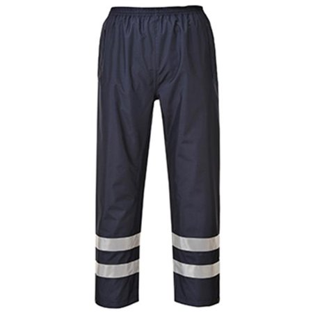 Portwest S481 Medium Iona Lite Hi Visibility Waterproof Trousers, Navy - Regular