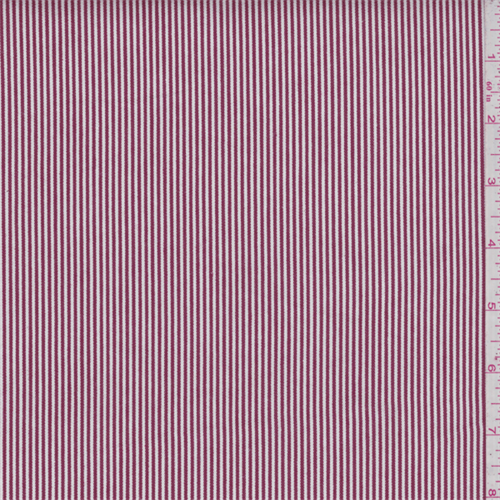 Red Stripe Cotton Ticking, Fabric By the Yard