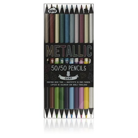 NPW-USA 50/50 Metallic Color Pencil Set, 10-Count (Usa Gold Pencils)