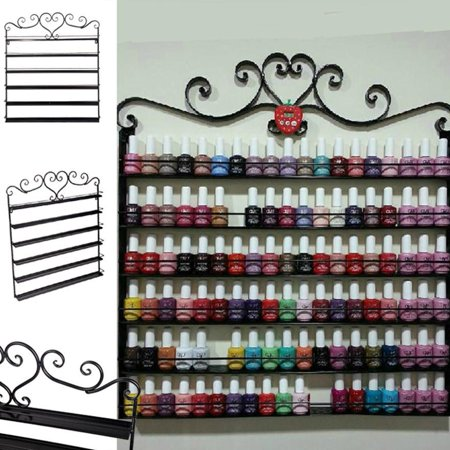 Nail Polish Display Wall Rack Fit Up To 108 Bottles Heart Art Nail Rack PAGACAT