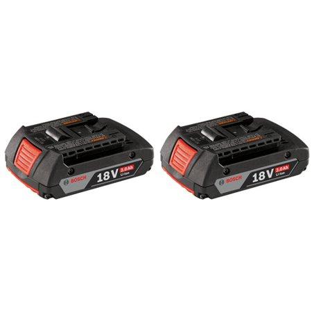Bosch BAT612-2PK SlimPack 18V Lithium-Ion Battery (Bosch 18v Li Combi Drill 2 Batteries)