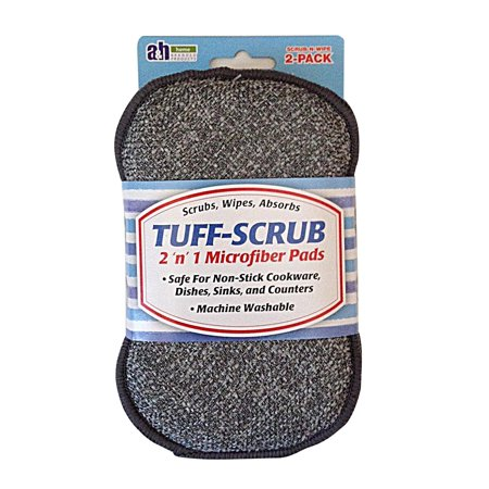 Tuff-Scrub Microfiber 2 'n' 1 Sponge Pads, 2 (Using A Sponge While On Your Period)