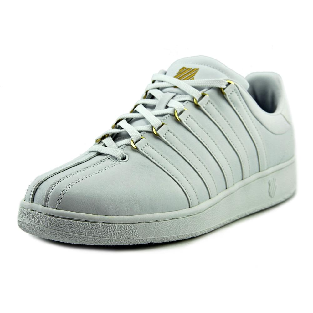 K-Swiss Classic VN Men Round Toe Leather White Sneakers by K-Swiss