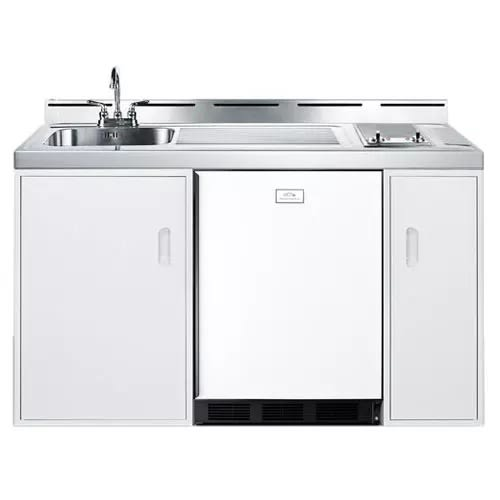 Buy Summit C60GLASS 60 Inch Combo Kitchen with Smoothtop Electric Burners by Summit