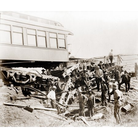 1887 Great Chatsworth Train Wreck Of The Niagara Excursion Train Showing The Sleeper Car Tunis At The Culvert 5 That Caused Crash August 10 History