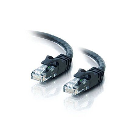 Cat5e 100FT Networking RJ45 Ethernet Patch Cable Xbox \ PC \ Modem \ PS4 \ Router - (100 Feet) Black ()