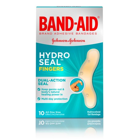 Band-Aid Brand Hydro Seal Adhesive Bandages for Fingers, 10 Count - Bandaid Sticker