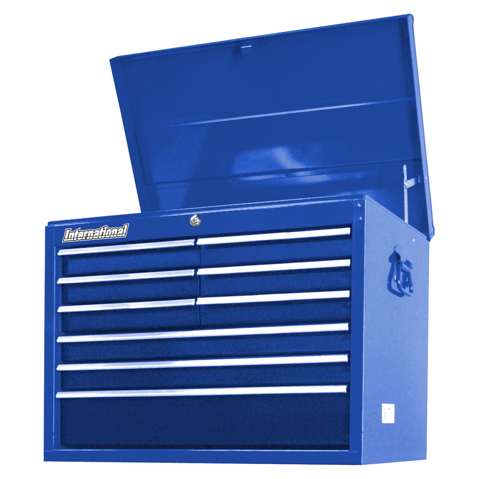 "International Workshop Series 27"" 9-Deep Drawer Ball Bearing Slides Top Chest, Blue"