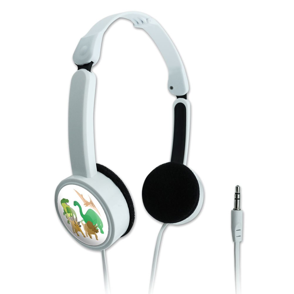Dinosaurs Novelty Travel Portable On-Ear Foldable Headphones