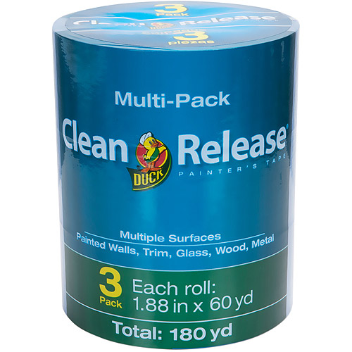 "Duck Brand Clean Release Painter's Tape, 1.88"" x 60 yds, 3-Pack"