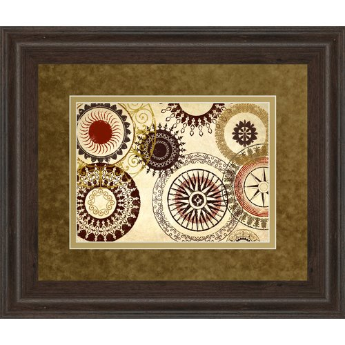 Classy Art Wholesalers Egyptian Textile by Michael Marcon Framed Graphic Art by Classy Art Wholesalers