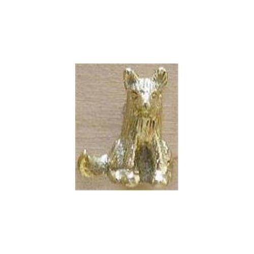 Mayer Mill Brass SFDP-1 Sitting Fox Drawer Pull - Brass