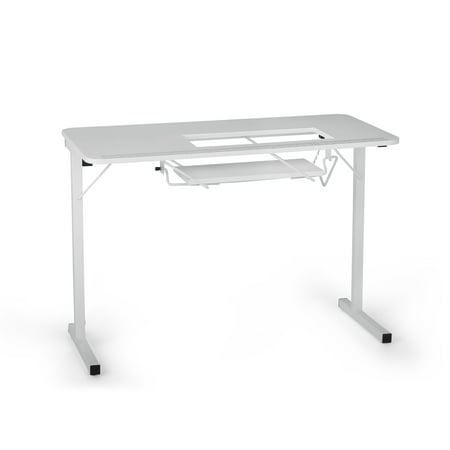Arrow 601 Gidget I Portable Sewing, Cutting and Craft Table w/Lift, White