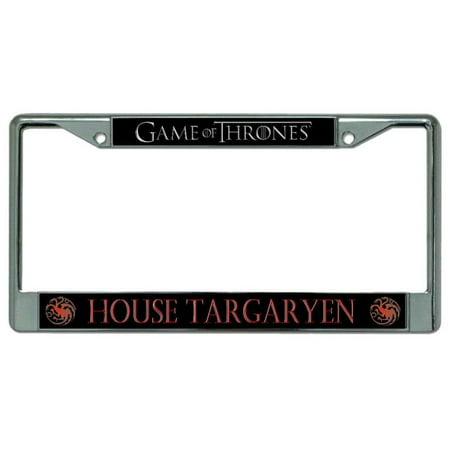 House Targaryen Chrome License Plate Frame License Plate Game Map