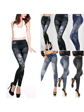 db9e7c1c00e0b Product Image 2019 Newest Fashion Hot Women Star Butterfly Imitation Denim  Sexy Skinny Leggings Lady High Waist Stretchy