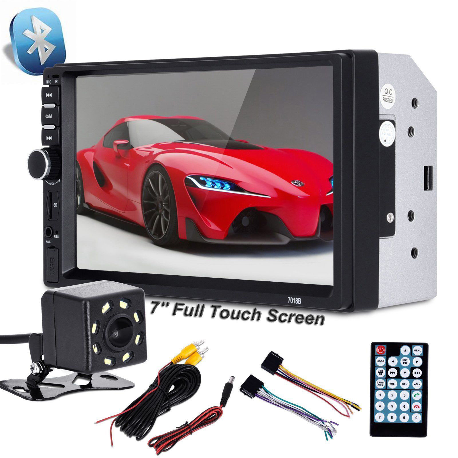 2 din car video player 7 inch touch screen car radio audio stereo2 din car video player 7 inch touch screen car radio audio stereo mp5 player 2din usb fm bluetooth rear view camera walmart com