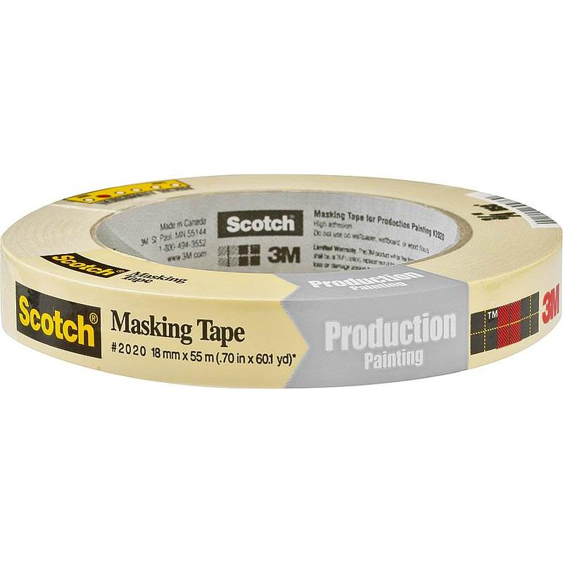 Scotch Masking Tape 3M Masking Tapes and Paper 2020-.75A 021200694769
