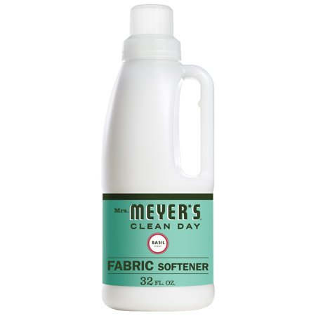 Mrs. Meyer's Clean Day Liquid Fabric Softener, Basil Scent, 32 ounce bottle (Meter Softener)