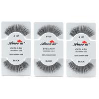 34978a7e199 Product Image LWS LA Wholesale Store 3 Pairs AmorUs 100% Human Hair False  Long Eyelashes # 107