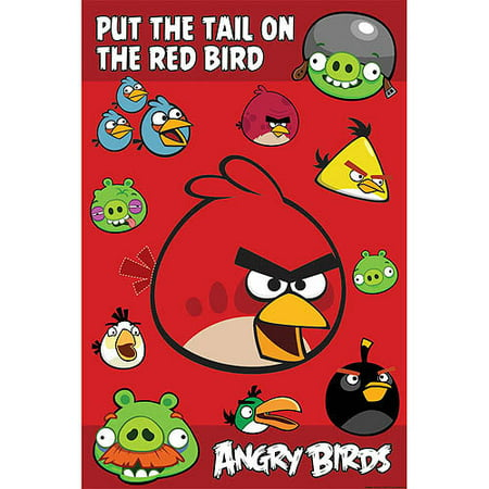 Angry Birds Halloween Background (Angry Birds Party Game Poster)