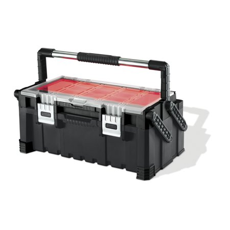 Auxiliary Fuel Tank Tool Box Combo (Keter 22 Inch Cantilever Combo Tool Box, Resin Tool Storage,)