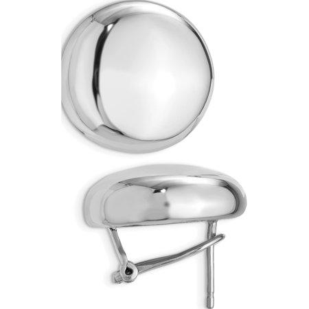 Sterling Silver Polished Omega Back Post Earrings (19x21) (Omega Polished Earring)