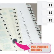 Redi-Tag, RTG31002, Preprinted 11-20 Numbered Index Tabs, 104 / Pack