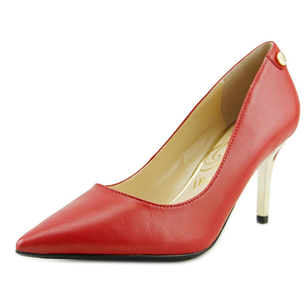 J. Renee Bryanne Women Pointed Toe Leather Red Heels by J. Renee