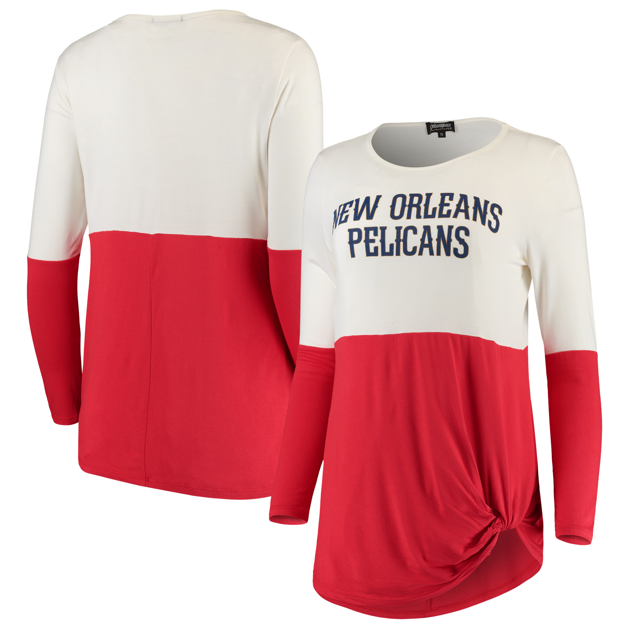 New Orleans Pelicans Women's In It To Win It Colorblock Long Sleeve T-Shirt - Red
