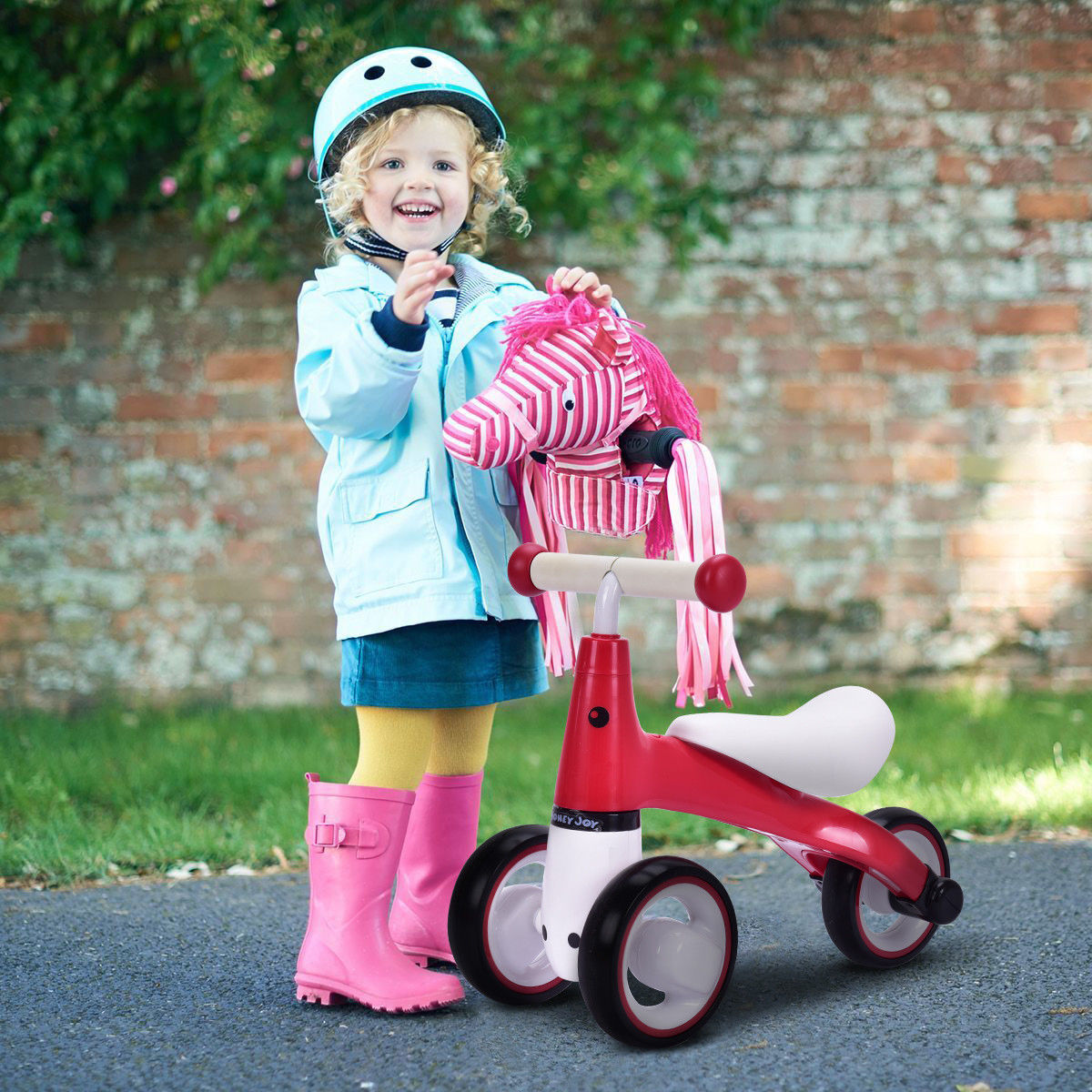 Costway Kids Balance Bike Baby Ride On Toy Learn To Walk Trainer No-Pedal Christmas Gift