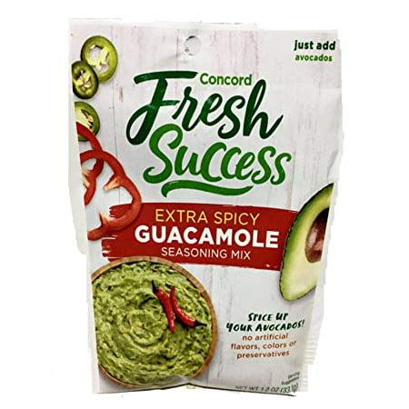 Concord Foods Classic Spicy Guacamole Mix, 1 OZ](Spicy Guacamole)