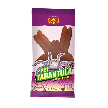 (7 Pack) JELLY BELLY TARANTULA 1 PIECE GUMMI CANDY 1.5 oz. - Halloween Candy Belly