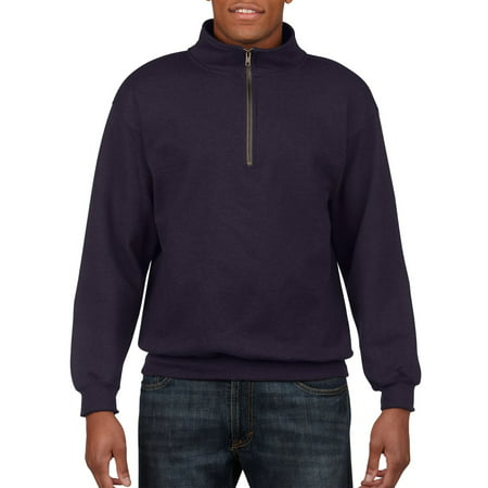 Gildan Men's and Big Men's 1/4 Zip Cotton Cadet Collar Sweatshirt, up to 2XL ()