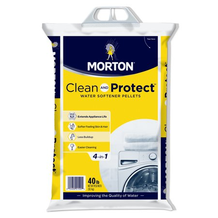 Morton® Clean and Protect® Water Softener Salt Pellets, 40 lb.