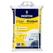 Morton Clean and Protect Water Softener Salt Pellets, 40 lb. Bag