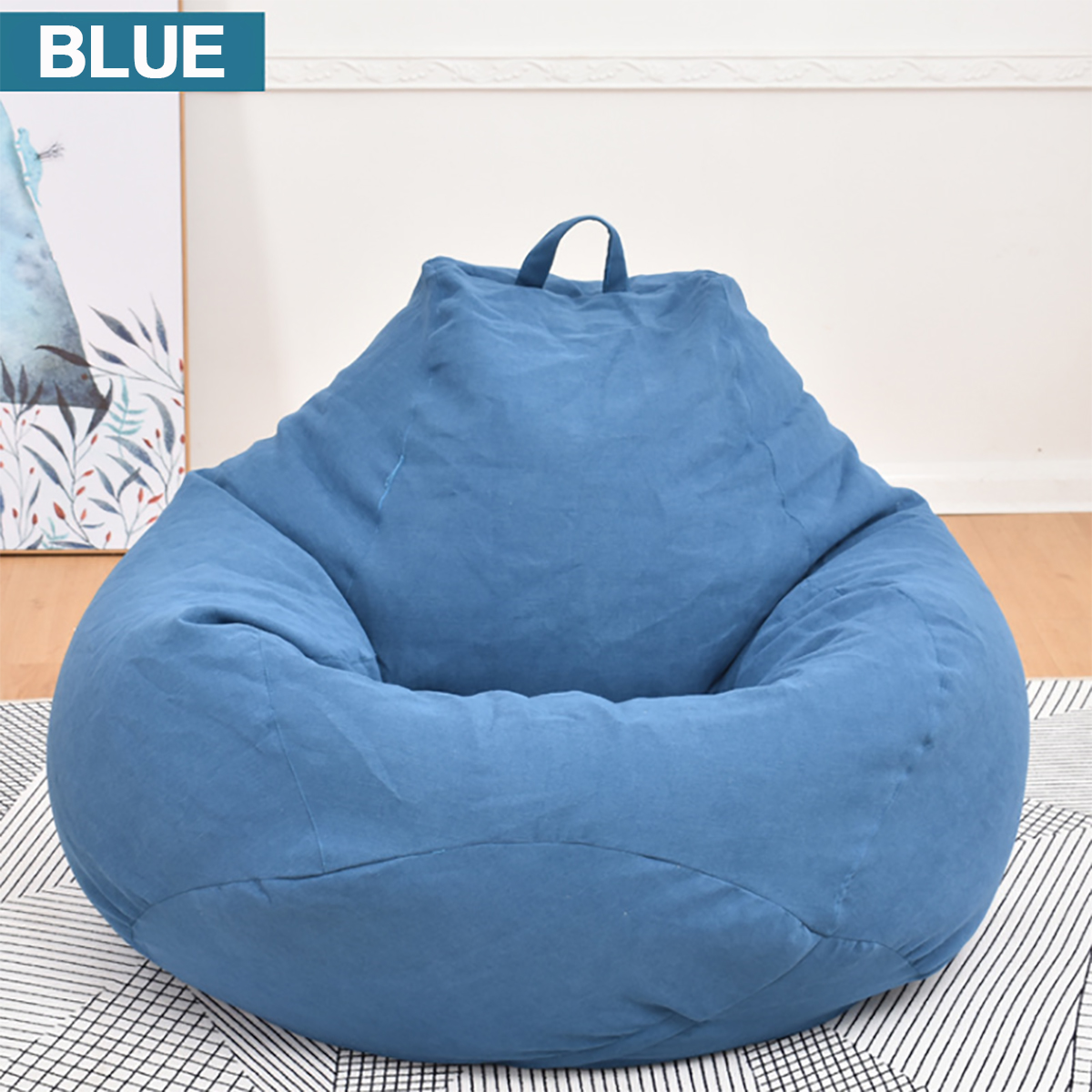 Kids Size Chocolate Bean Bag With Beans By Bean Lazy Child