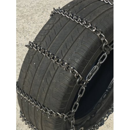 Snow Chains P235/75R17,  ALLOY Cam STUD Tire Chains w/ Rubber Tensioners - image 3 de 4