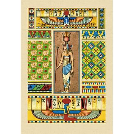 Egyptian Ornamental Patterns (Egyptian Ornamental Patterns- Fine Art Canvas Print (20