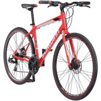 Schwinn 700c Wheels Kempo Men's Hybrid Bike (Red)