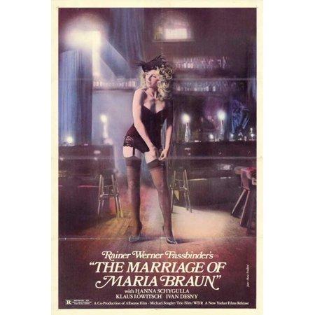 Marriage of Maria Braun POSTER Movie (27x40) - Maria Brink Halloween
