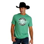 Cinch Western Shirt Mens S/S Tee Logo Jersey Heather Green MTT1690211